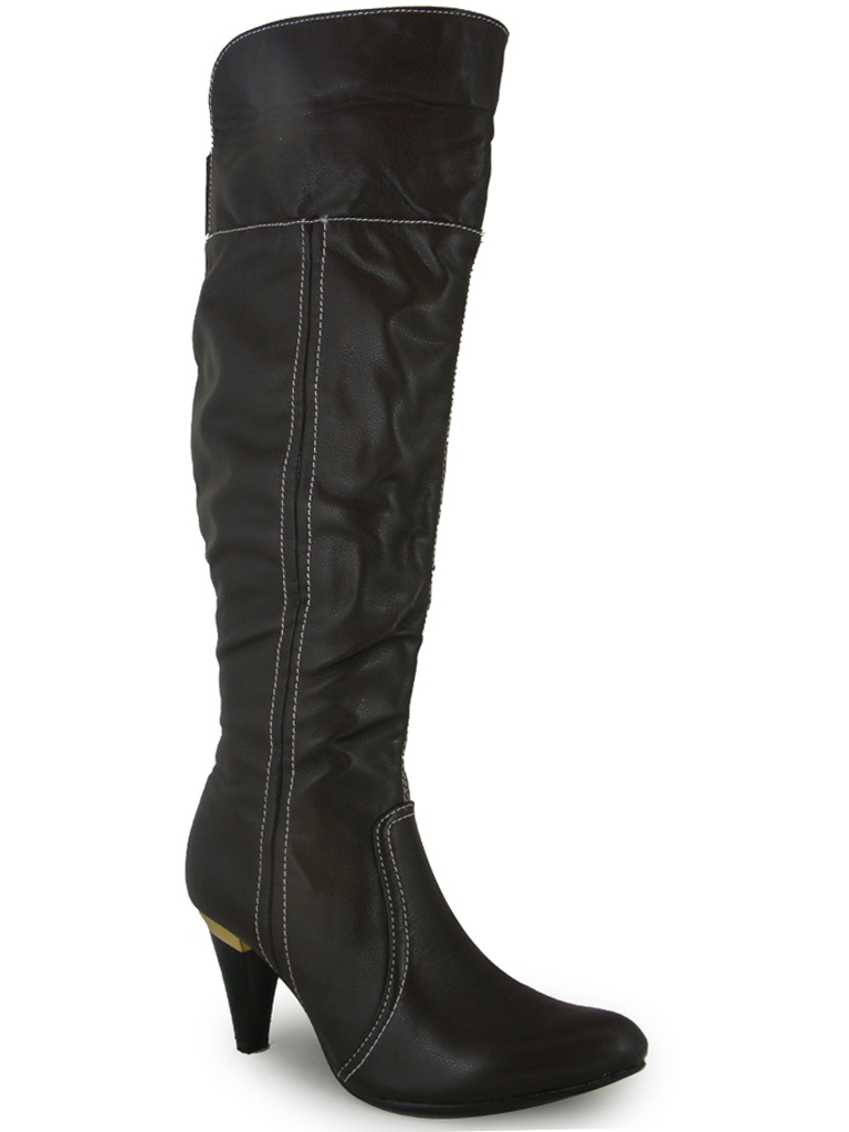 sale black brown the knee high boots 3 8 ebay
